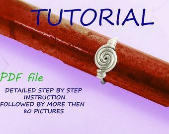 Ring Tutorial, Jewelry PDF Tutorial, rose ring pattern, knot ring tutorial,silver twist ring tutorial, wire ring tutorial, DIY jewelry,