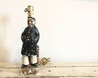 Vintage Old Sea Captain Lamp