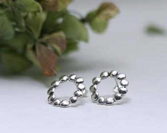 925 Bubble Earrings- Sterling Silver- Free Shipping Worldwide
