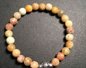 Men's Soapstone Amber Bracelet