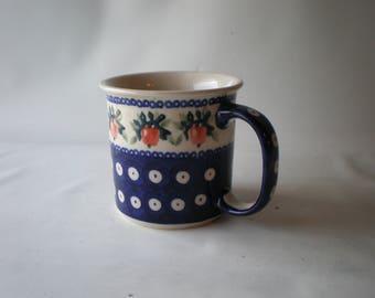 Vintage Boleslawiec Polish Pottery Mug