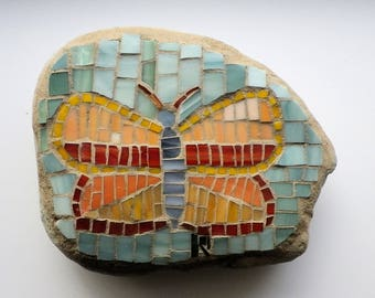 Butterfly Mosaic On Stone 8A1B9 3