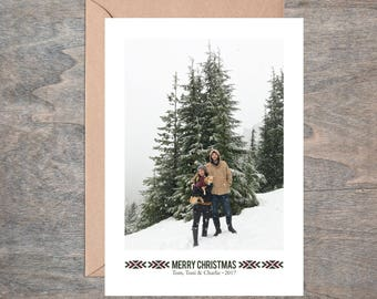 Printable Photo Christmas Card - Minimilist