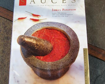 Sauce Recipe Cook Book by James Peterson // Hardback Second Edition // Cook Book