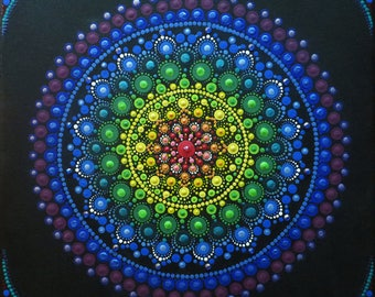 12x12 in Mandala painting on canvas