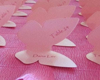 Reserved Listing for Julie M. - Butterfly Favor Tags - Package of 6 - Pink