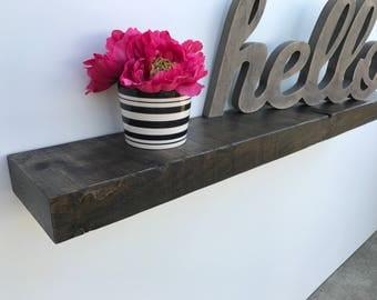 Rustic floating shelf reclaimed barn wood style