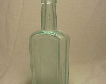 c1880s J. W. Bull's Cough Syrup A. C. Meyer & Co. Baltimore, MD., Cork Top Aqua Blown Glass Medicine bottle No.2