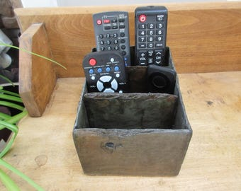 Remote control caddie made from weather beaten 80 year old slate. # RM-6
