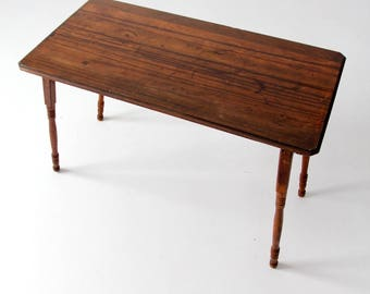 Vintage Wood Folding Table, Tailors Work Table, Sewing Table