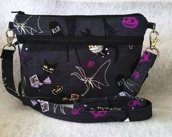 Fast shipping//The nightmare before Christmas Cross body bag//Disney//iphone 6/7 cross body bag//iphone 6/7 wristlet//Adjustable strap