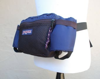 Vintage Jansport Fannypack Sport Bag Belt Bag Waist Bag Blue Hiking Hiker Bag Pouch Backpack Organizer Classic USA Outdoorsman Biker Bag