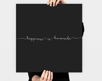 Happiness Is Homemade Quote Instant Download