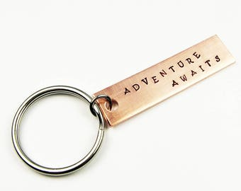 Adventure Keychain for New Teen Driver, College Dorm Keys, Housewarming or Homeowner Gift