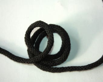 3 mm BLACK Cotton Rope = 5 Yards = 4.57 Meters of Elegant Cotton Braided Cord -Bulky Yarn-Super Bulky Yarn-Macrame Cotton Cord-Crochet Yarn