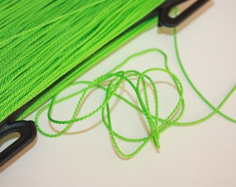 1.5 mm TWISTED GREEN Cord = 1 Spool = 110 Yards = 100 Meters of Elegant Polypropylene Rope - Great for Macrame, Sewing, Crocheting, Knitting