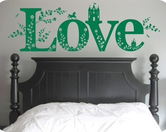 Love Quote, Vinyl Wall Art Sticker Decal Mural. Home, Wall Decor. Living Room, Bedroom.