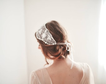 Bridal Lace Headband, Lace Head Covering, Lace Headband Adult, Wedding Headpiece, Lace Headband, Vintage Lace Covering
