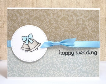 Happy Wedding Card- Wedding Bells Card- Wedding Card- Bride and Groom- Wedding Bells