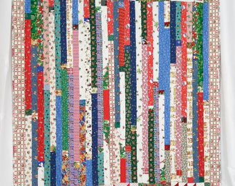 Jelly Roll Christmas Twin Size Quilt