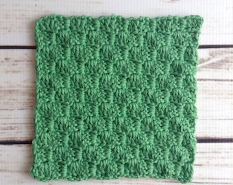 Green Washcloth, Cotton Washcloth, Knit Washcloth, Knit Wash Rag, 100% Cotton, Bathroom, Kitchen, Dishcloth