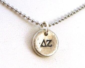 SALE CIJ2017 Delta Zeta Pewter Pebble Necklace - Official Licensed Product for Delta Zeta