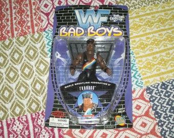 WWE WWF Faarooq Bad Boys wrestling figure 1997 vintage