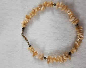 Tan Chip Bead Bracelet