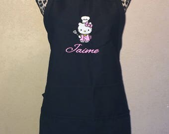 Hello Kitty Women's Chef Kitchen Apron Personalized Free