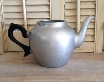 ON SALE Tea Pot Metal Tea Pot Primitive Pot Shabby Chic Tea Pot