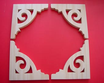 Special Order  (8)  Victorian Gingerbread Screen Door Wood  Bracket