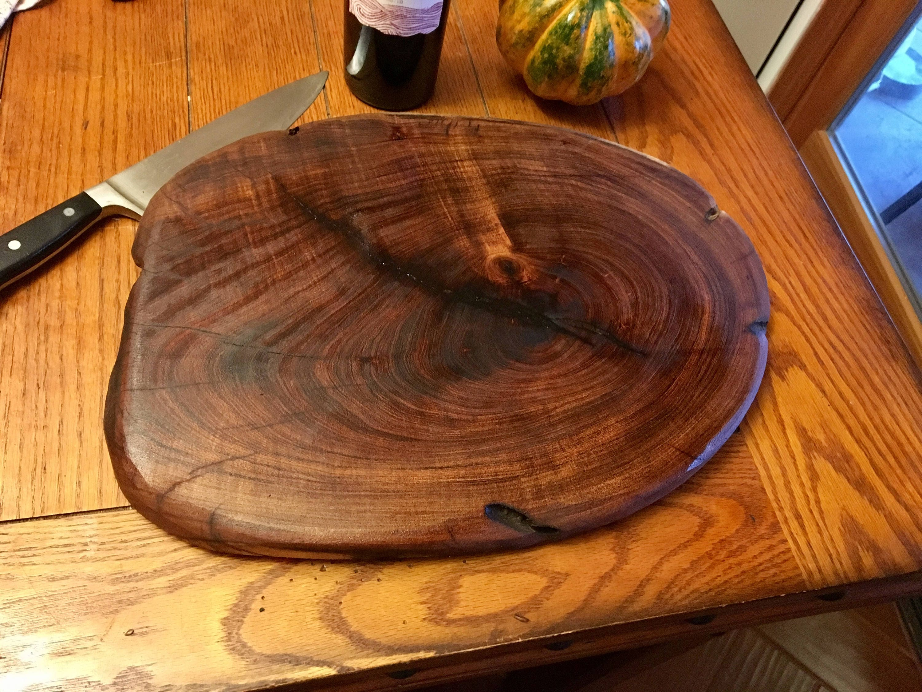 Wood cutting board mesquite tree slice for How to cut wood slices