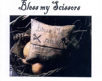 Notforgotten Farms: Bless My Scissors - Cross Stitch Pattern