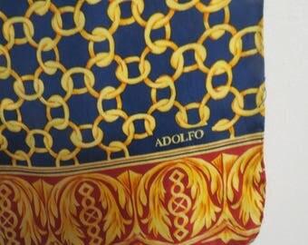 """Long  Silk Scarf 11"""" X 50"""" Adolfo  #019"""