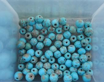 6mm Turquoise Magnesite Gemstone Beads