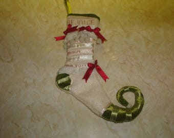 retired patience brewster department 56 christmas tree stocking ornament rejoice