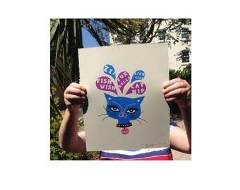 Cat Dreams - Cat Prints - Cat picture - Cat lovers gift - Cat art - Cat art print