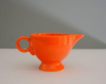 Orange Fiestaware Creamer - Vintage Dishes Retro Dish