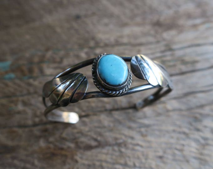 Vintage Winged Turquoise Cuff