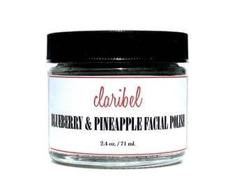 Blueberry & Pineapple Facial Polish | All Natural Facial Scrub | Vegan Face Scrub