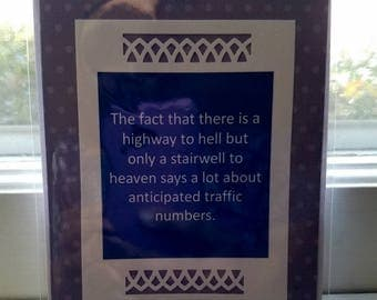 Highway to hell  Handmade Greeting Card