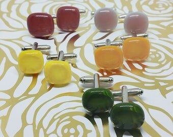 Custom Color and Quantity, Autumn Collection Glass Earrings, Wedding, Prom or Formal Attire