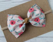 Farmhouse Floral Faux Leather {MILLIE} Bow - Spring + Summer 2017