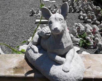 Custom Rat Terrier Statue with angel wings