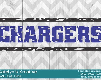 Chargers Distressed SVG Files