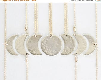 MOON DAY SALE Bridesmaid Gift / Best Friend Necklace / Bridal Party / Moon Jewelry / Girl Squad / Mother Daughter Jewelry / Sister Necklace