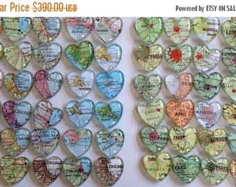 Magnets travel theme or destination wedding favors map magnets (80)