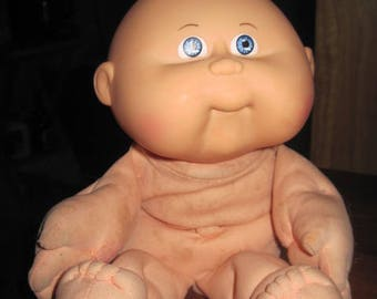 VINTAGE 1983 HASBRO/O.A.A. Cabbage Patch Naked Boy Doll ..Red Hair & Blue Eyes...