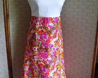 SALE - Vintage 70's Flowered Dress