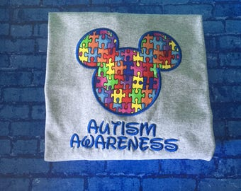 Autism Awareness Mouse head personalized Adult and Plus Size shirt